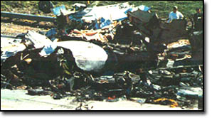 Crash site of Northwest Flight 255